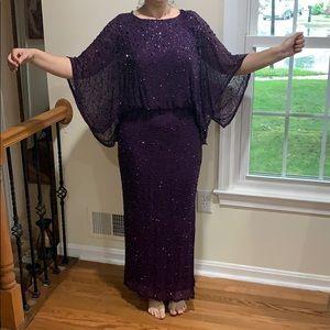 Patra purple sequin dress